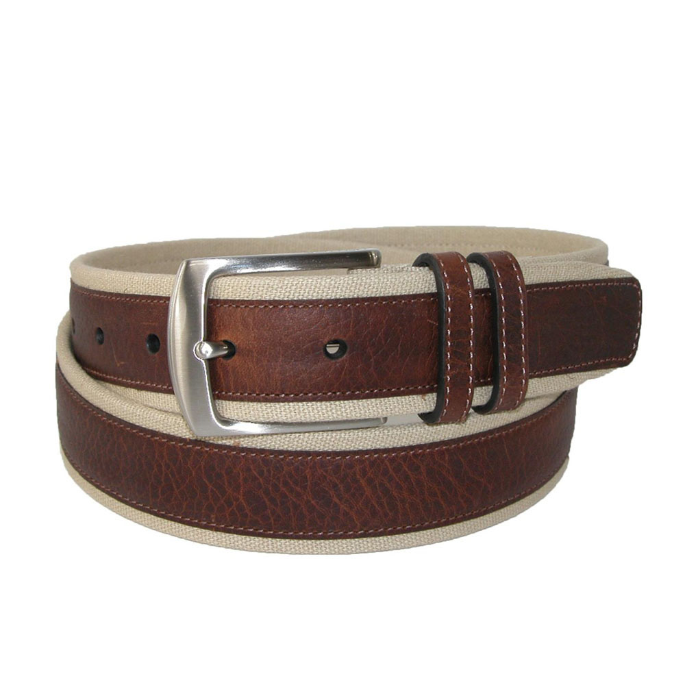 Leather Canvas Belt